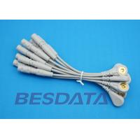 China 10 Leads EKG Cable Electrodes Adaptor Din 3.0 / Banana 4.0 Plug Conver To Snap Type wholesale