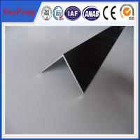 China 6063 T5 aluminum angle profile / OEM aluminum angles / per ton of aluminum manufacturer on sale