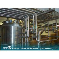 China Seamless Titanium Pipe ASME SB338 GR2 Titanium Tubing For Chemial And Oil Industry on sale