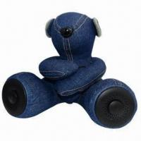 China Mobile Phone Mini Speaker, Teddy Bear Design with CE/RoHS Approved for MP3/MP4/Mobile Phones/PCs wholesale