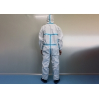China Hospital Medical EN14126 Disposable Protective Coverall wholesale