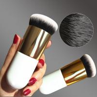 China Chubby Pier Foundation Brush / Cream Shadow Brush Contour Make Up Tool wholesale