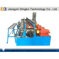 China GCR15 Rollers Steel Door Frame and Window Frame Making Roll Forming Machine PLC Siemens / Delta / Panasonic on sale