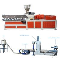 Buy cheap High Capacity Plastic Dual Screw Extruder With Water Ring Pelletizing System from wholesalers