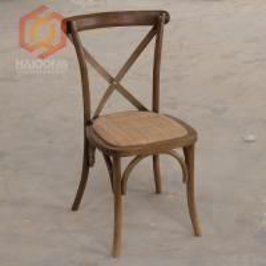 Beech Oak Wood Finished Cross Back Bent Restaurant Dining Outdoor Chair