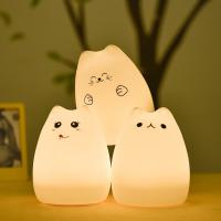 Quality Rechargeable Dim Led Color Changing Night Light With 7 Color Mood , Sensitive for sale