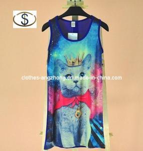 China Women T-Shirts, Fashion Cat Prince Colorful Space Universe Digital Printing Vests wholesale