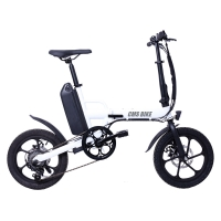 China 36V Rear Drive 16 inch folding fat tire electric bike battery upgrade portable bicycle on sale