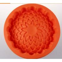 China round shape silicone cake pans ,silicone baking  pans , flower shape silicone pizza  pan wholesale