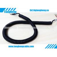 China Glossy Black PUR Jacket Customized Retractable Spring Cable High Resilience Force wholesale