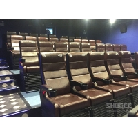 China 4 Seats Black PU leather 4D Cinema Motion Chair Pneumatic / Electronic for Home Theater wholesale