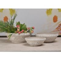 China Decorative Large Round Bowl Planter , SPW Material Outdoor Tabletop Planters wholesale