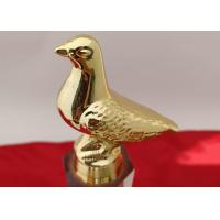 Custom Logo Crystal Trophy Cup Three Sizes Optional With Resin Pigeon