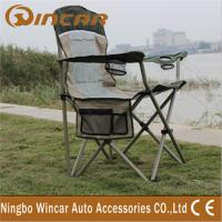 China Portable Folding Outdoor Camping Chairs With Cup Holder for family wholesale