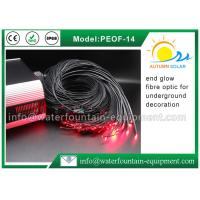 China Decorative Underwater Pool Lights End Glow Fiber Optic Cable With Black Cover wholesale