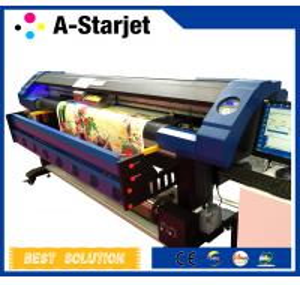 China Eco Solvent UV Inkjet Printer Cmyk + White Ink Large Format Printing Machine wholesale