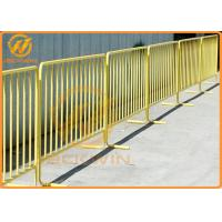 China Road Safety Flat Foot Metal Galvanized Crowd Control Temporary Pedestrian Barrier wholesale
