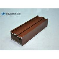 China Red Brown Powder Coating Aluminium Extruded Profile Shapes , ISO9001:2004 wholesale