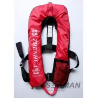 China 150N Auto Inflatable Adult Life Jacket Vest With Safety Harness & Lifeline wholesale