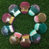 China Shell Makeup Brushes 8 cm Total Length Multicolor Handle Plastic Ferrule Material wholesale