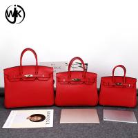 China Classic design real cow skin black leather handbag popular lady tote bag China factory designer leather bags wholesale