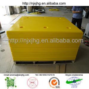 Trellebory uhmwpe sheet for steel frame marine rubber fender system
