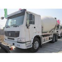 China Yellow 290 HP Concrete Mixer Trucks With Mixer Tank 6 Cubic Meters wholesale