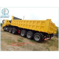 Buy cheap 30T Yellow SINO Heavy Duty Dump Truck Trailer 6 x 4 for Transport from wholesalers