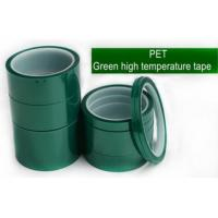China Green Polyester Silicone Adhesive Electroplating Tape Heat Resistant PET Powder Coating Tape Green Masking Tape bagplast on sale