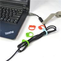 China PP Material Cable Drop Clips Cord Ring Clamp For USB And Charge Line wholesale