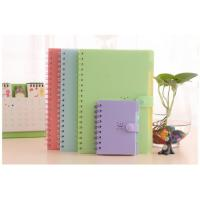 China PP cover candy color coil notebook for office and students wholesale