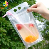 China PET Material Drink Juice Food Pouch Packaging Doypack Bag CMYK Printing With Handles wholesale