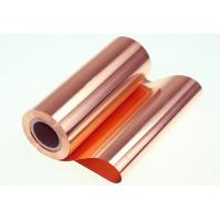 China Soft Copper Foil Sheet Roll 500 ~ 650mm Width For Electomagnetic Shielding Material wholesale