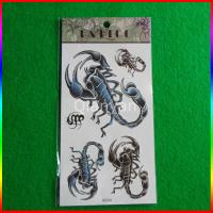 China temporary tattoo for men scorpion tattoo sticker on sale