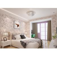 China Elegant Non - woven Modern Removable Wallpaper  / Leaf Pattern Wallpaper wholesale