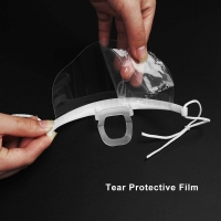 China Hygiene Double Sided Fogging Prevention Transparent Plastic Face Mask wholesale