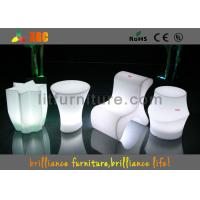China Polyethylene Bar Furniture LED Table And Chairs PE Materials With Wireless Remote Control wholesale