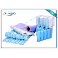China 75gsm Blue Pp Non Woven Fabric Spunbond For Pocket Spring Cover wholesale
