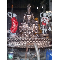 China Figure Custom Cartoon Character Sculptures Stainless Steel Outdoor Religious Statues wholesale