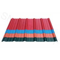 Chemical Resistance ASA Coating Plastic Corrugated Roofing , Wave Height 26mm