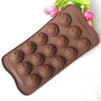 China Mini 15 Cavity Silicone Chocolate Molds Personalised Non Stick wholesale
