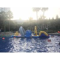 China Large Floating Inflatable Aqua Park Water Games With Slide For Outdoor Entertain wholesale