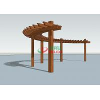 China Durable Arched Pergola Kits 14.3m X 1.5m  ,  High Density Composite Wood Pergola wholesale