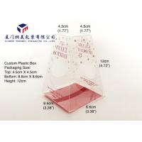 China Trapezoid Shape Custom Plastic Box Packaging For Bath Set Clear Box Packaging wholesale