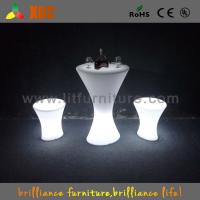 China Outdoor / Indoor  LED Bar Tables with glass top / lithium battery wholesale