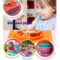 China Factory directly Baby Child Silicone Placemat Suction Plates with different color wholesale
