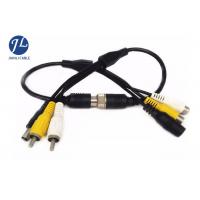 China Car Monitoring System BNC RCA Video Audio Cable With DC Adapter / 4 Pin Plug wholesale