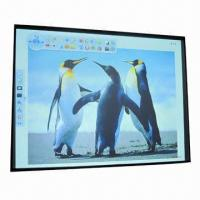 China 80-inch Smart Class Interactive Whiteboard with Aluminum Frame and Two Touch Points Optical Panel wholesale