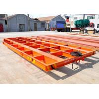 China 5T Towed cable power steel structure low bed rail cart for blasting room on sale