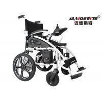 China Outdoor Electric Folding Wheelchair For Handicapped Steel Material DLY-6009 wholesale